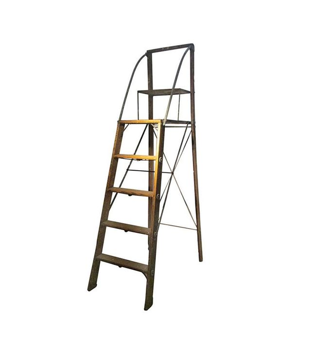 Dayton Safety Ladder Company Wood and Steel American Industrial Library Ladder