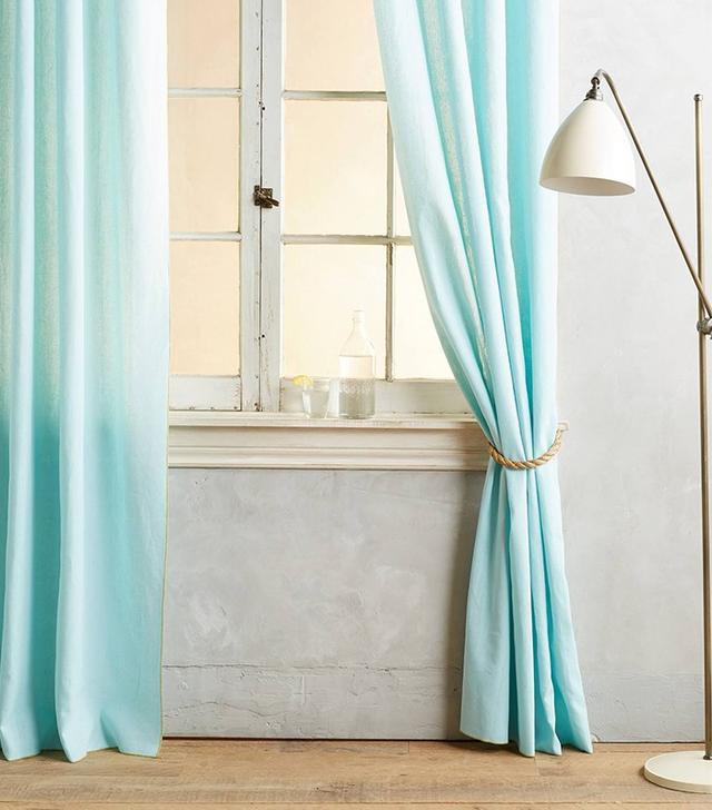 Anthropologie Linen Grommet Curtain