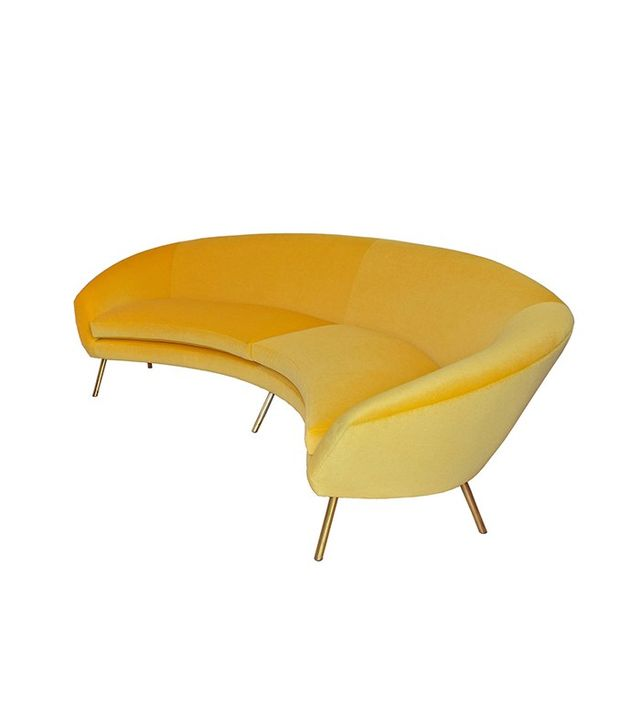 Giuseppe Rossi for Rossi di Albizzate Yellow Sofa