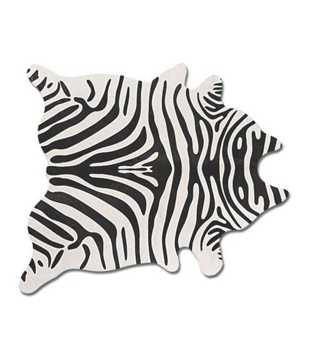 One Kings Lane Zebra Print Hide Rug