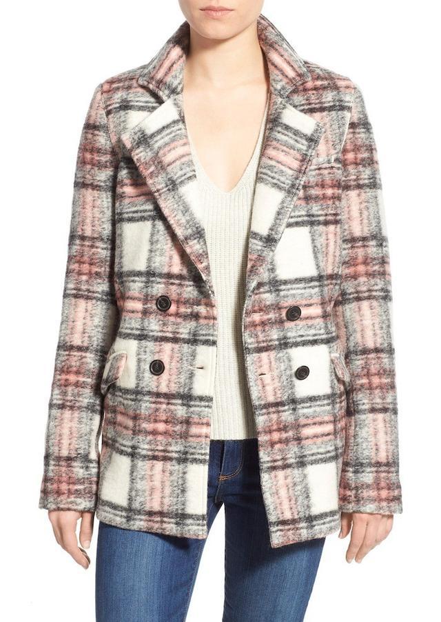 Paige Denim Leona Wool Blend Double Breasted Coat