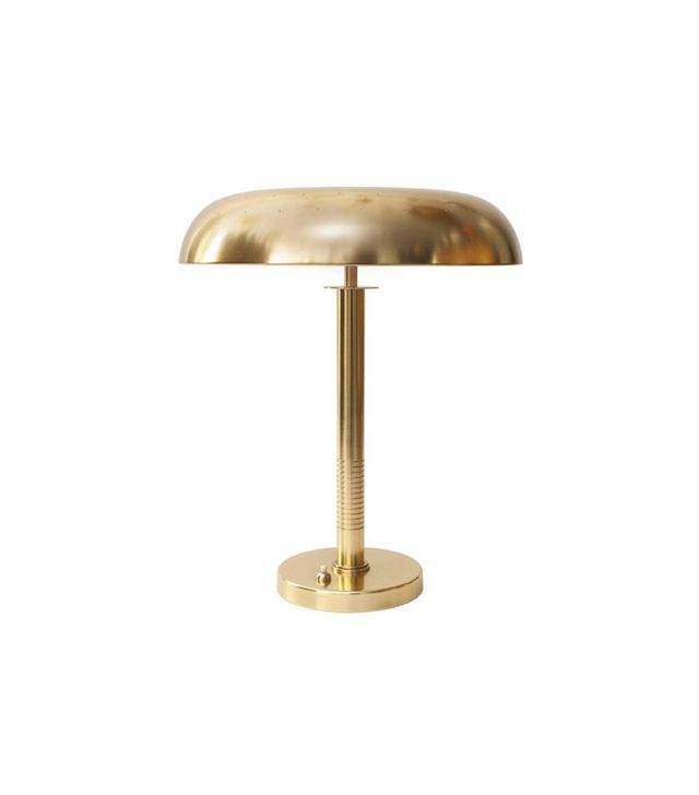 Bertil Brisborg for Bohlmarks Scandinavian Modern Polished Brass Lamp