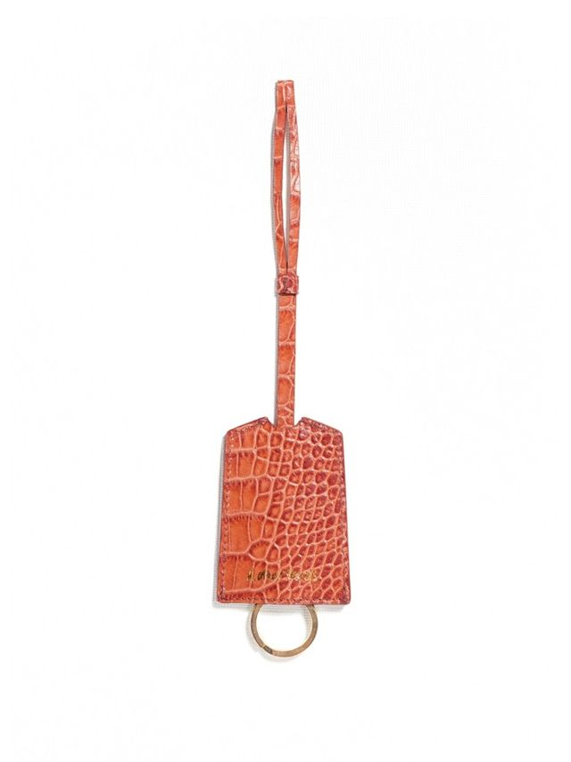 & Other Stories Croco Leather Key Ring