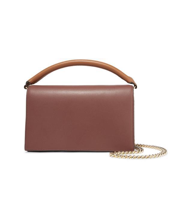 Soirée Color-block Leather Shoulder Bag