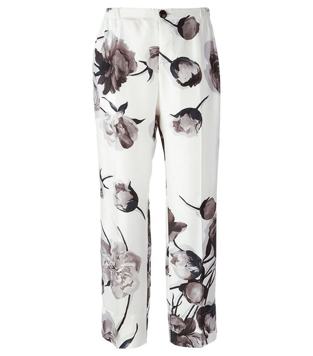 For Restless Sleepers Floral Print Cropped Pajama Trousers