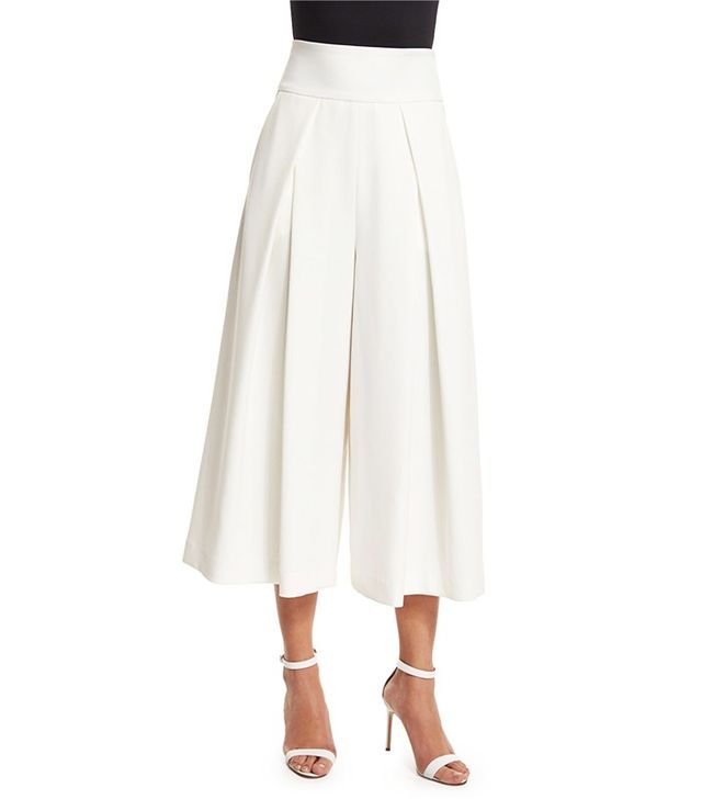Milly Pleated-Front Italian Culottes