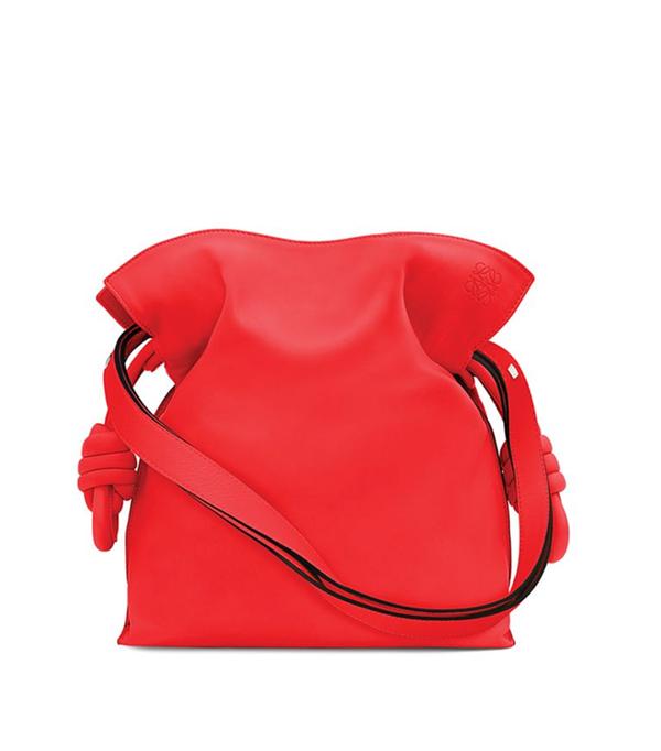 Flamenco Knot Leather Shoulder Bag