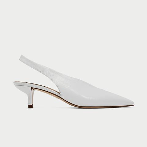 Slingback Leather High Heel Shoes