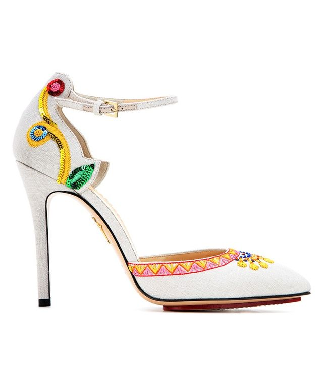Charlotte Olympia Celebration Celia Embroidered Pumps