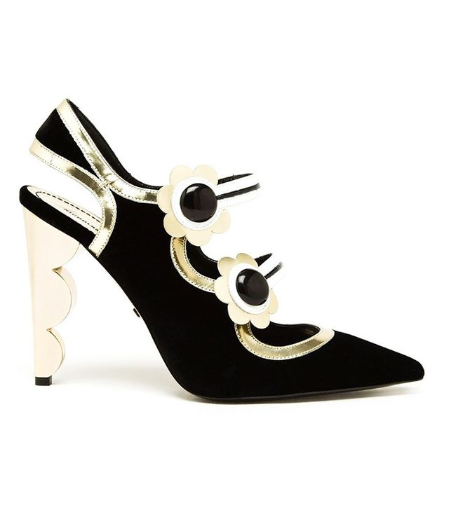 Nicholas Kirkwood Velvet Mary Jane Pumps