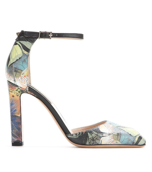 Valentino Club on Camu Butterfly Leather Pumps
