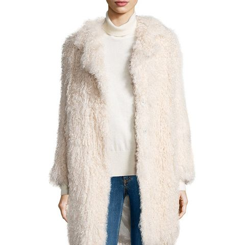 Hart Long-Sleeve Shearling Fur Coat