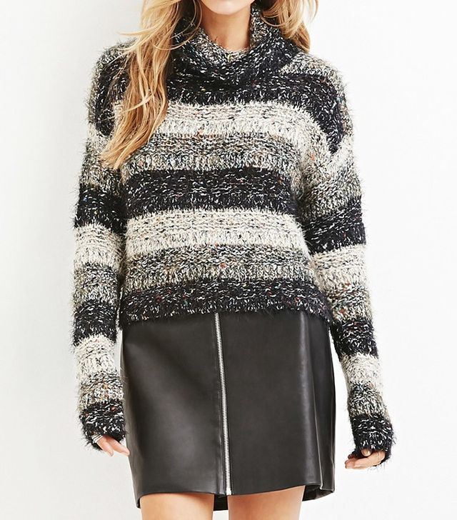 Forever 21 Fuzzy Mixed Knit Sweater