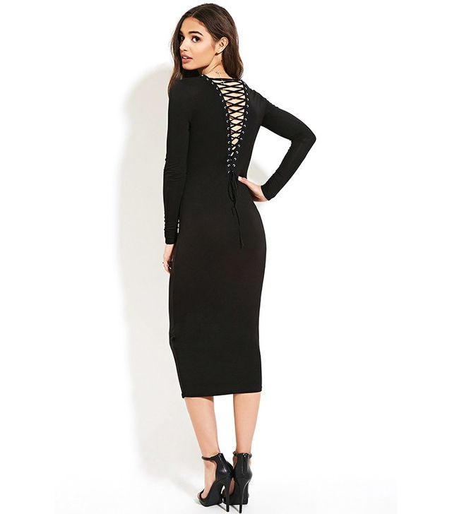 Forever 21 Lace-Up Back Maxi Dress