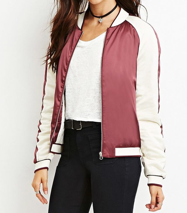 Forever 21 Colorblocked Bomber Jacket