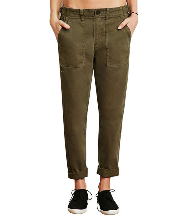 Forever 21 Distressed Cargo Pants