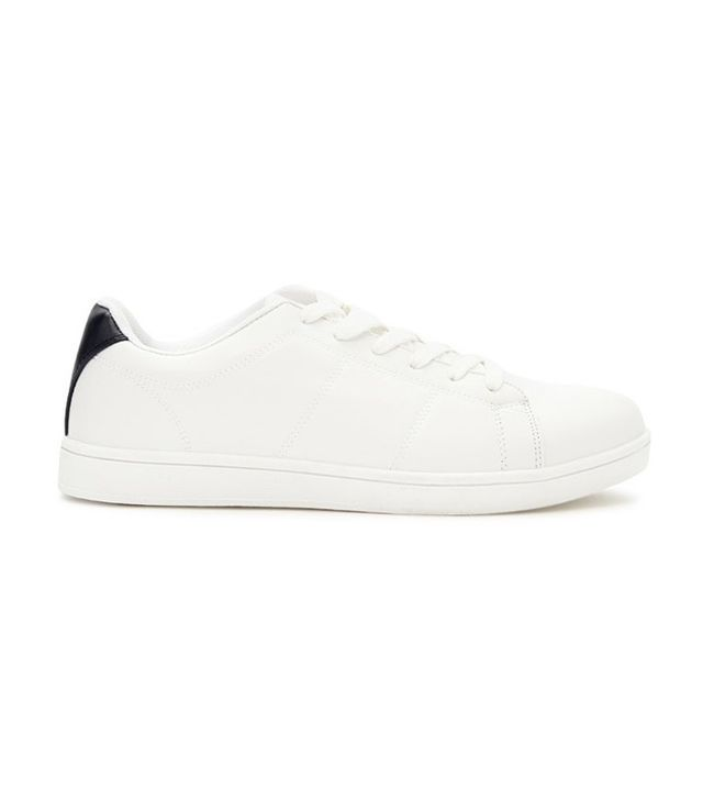 Forever 21 Faux Leather Low-Top Sneakers