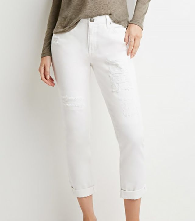 Forever 21 Contemporary Life in Progress Distressed Skinny Jeans