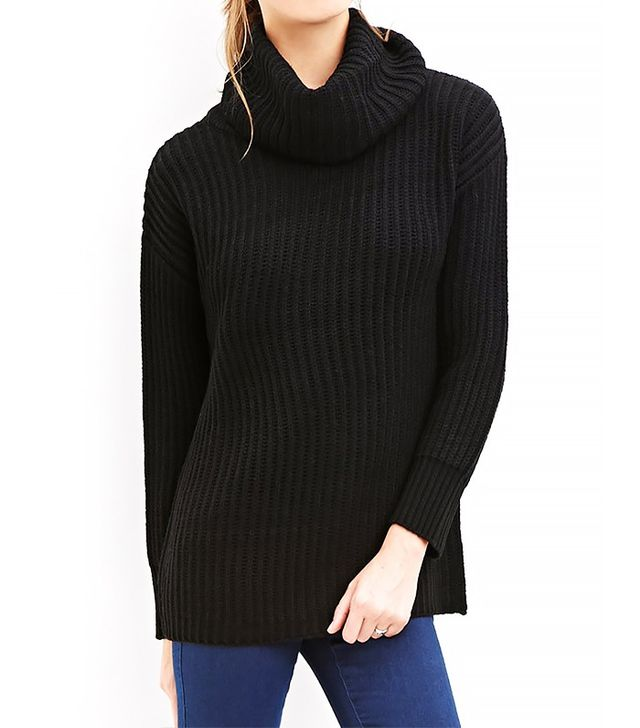 Forever 21 Dropped-Sleeve Turtleneck Sweater