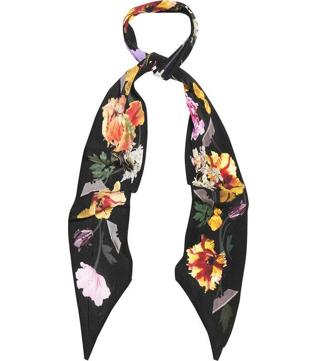 Rockins Flora Printed Silk Crepe de Chine Scarf