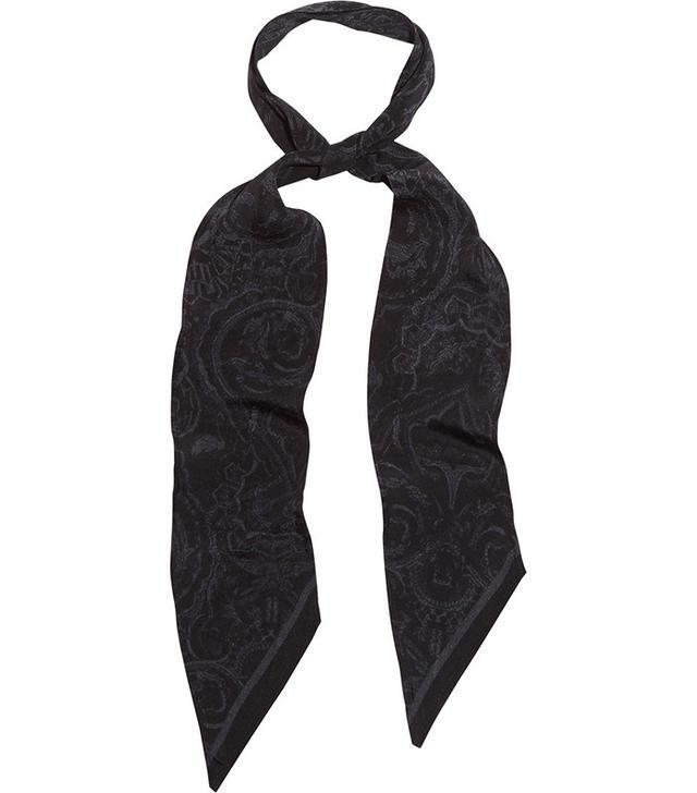 Rockins Printed Printed Silk Crepe de Chine Scarf