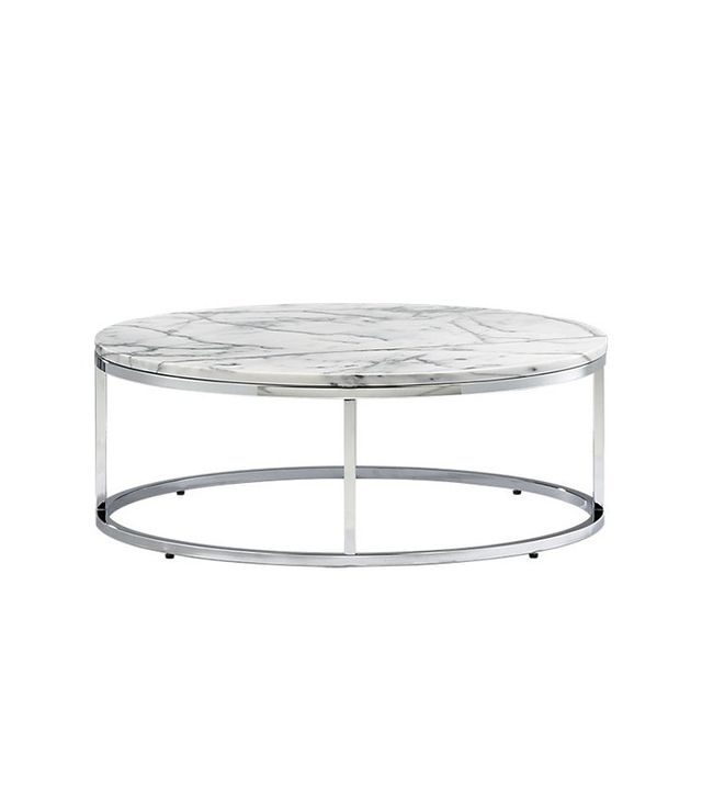 CB2 Marble Top Coffee Table