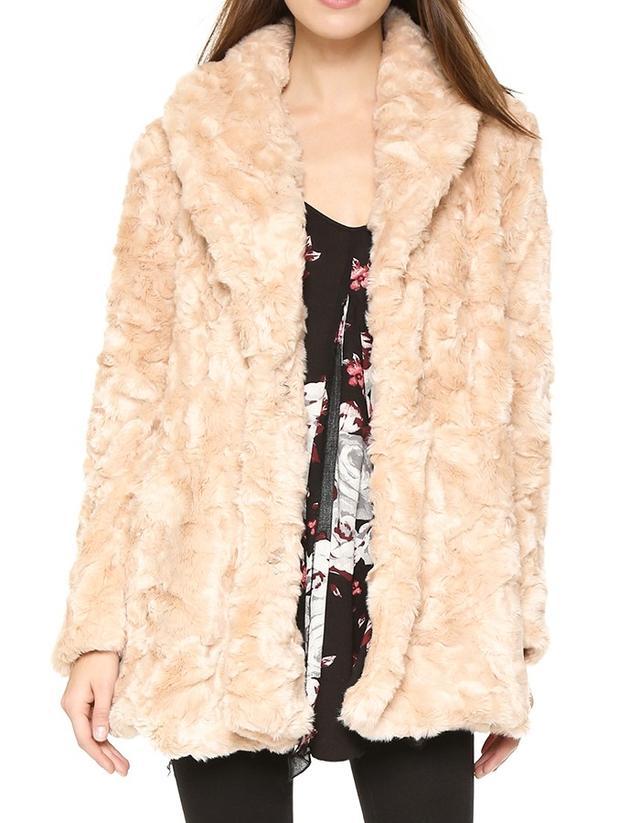 Free People Swingy Faux Fur Coat