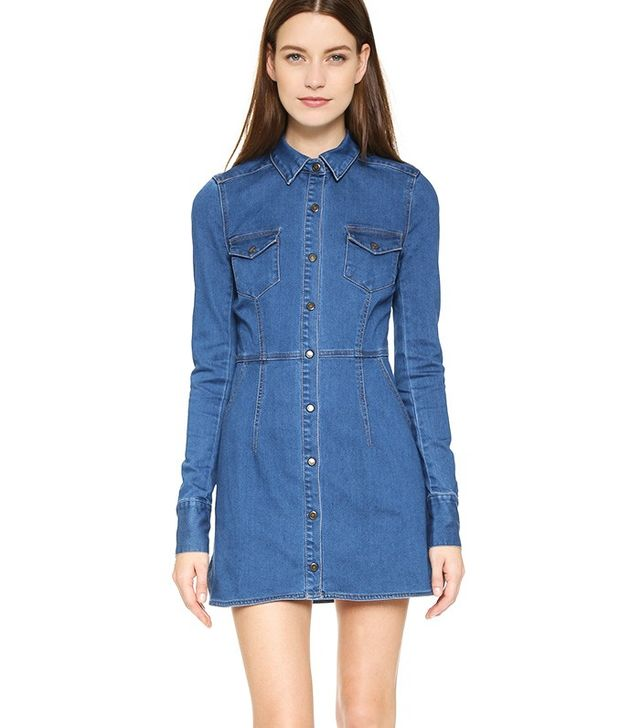 Free People Gummy Denim Dynomite Mini Dress