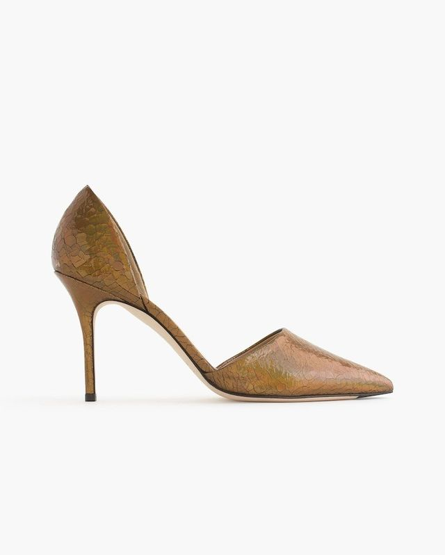 J.Crew Elsie Crackled Hologram d'Orsay Pumps
