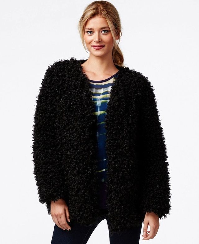 Vince Camuto Curly Faux-Fur Jacket