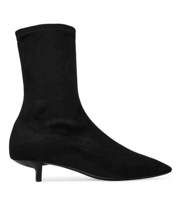 Best Black Ankle Boots: Stella McCartney Faux Stretch-Suede Sock Boots