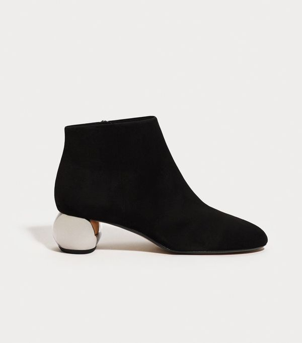 Best Black Ankle Boots: Mango Ankle Boots