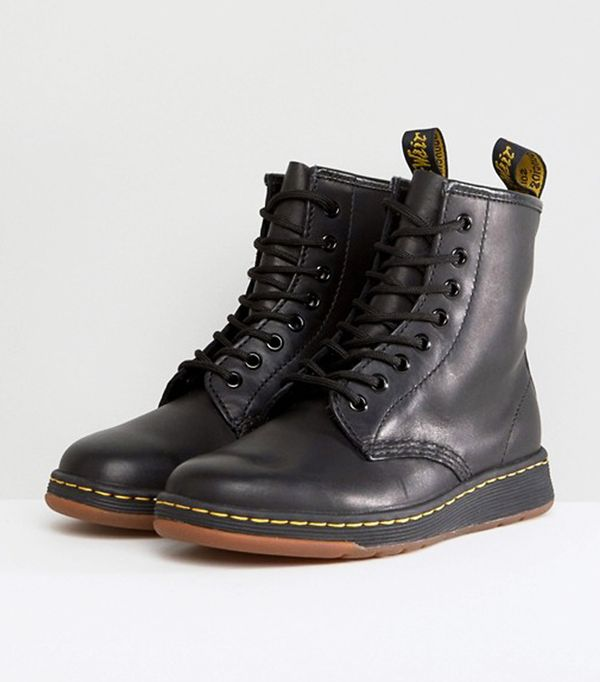 Best Black Ankle Boots: Dr Martens Lite Newton 8 Eye Boots