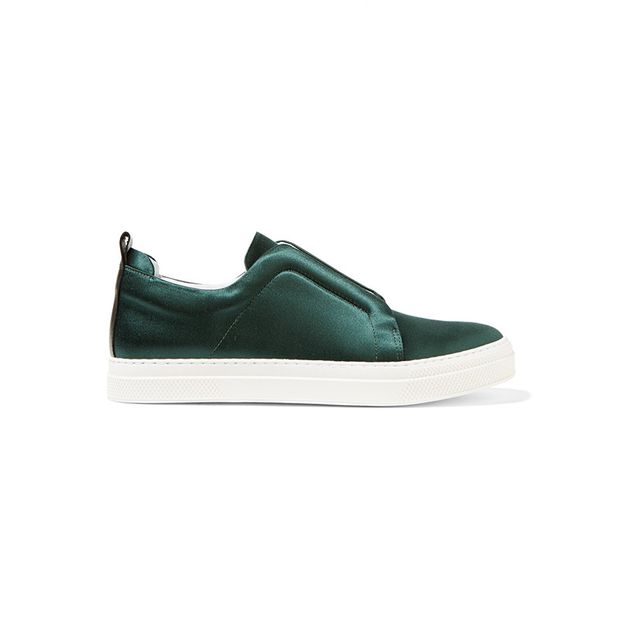 Pierre Hardy Slider Satin Slip-On Sneakers