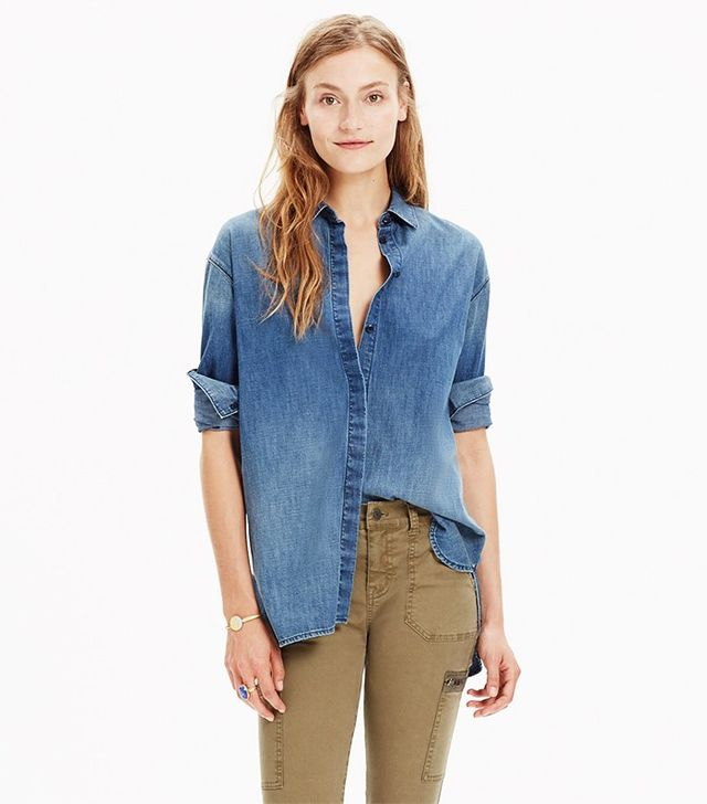 Madewell Denim Clean Placket Shirt
