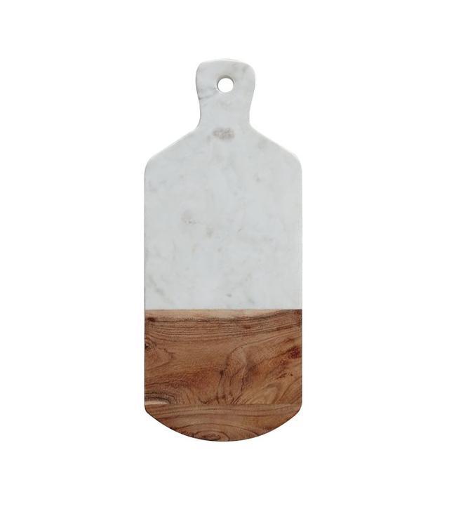 West Elm Marble + Wood Cutting Board