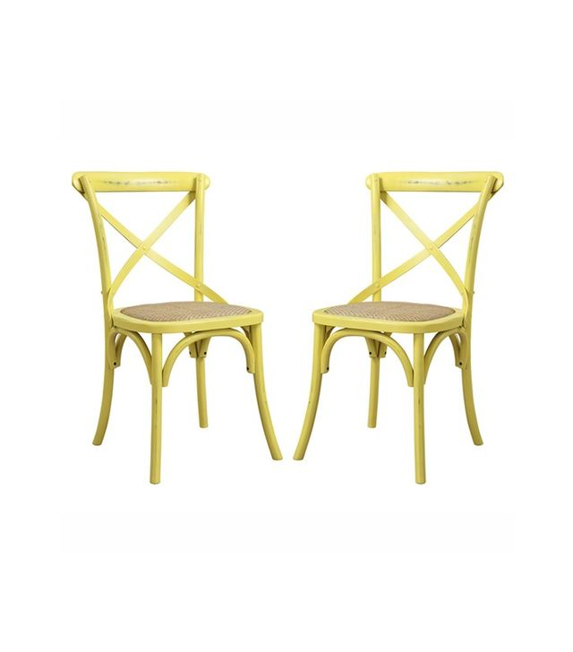 Angelo Home Cadwell Antique Yellow Dining Chairs