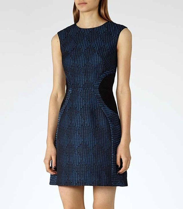 Reiss Kori Textured Fit and Flare Dress