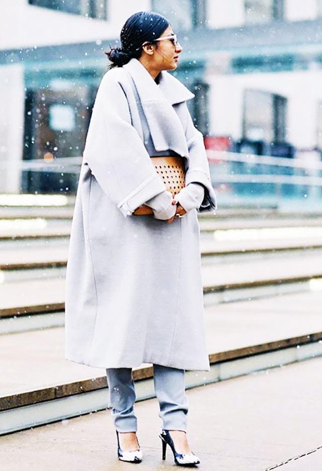 Shop the key piece: Zara Long Sleeve Coat (£50)