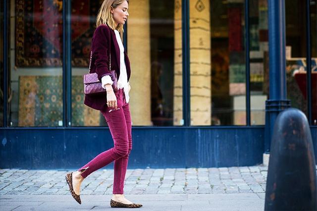 Shop the key piece: Topshop MotoBurgundy Cord Jamie Jeans(£42)