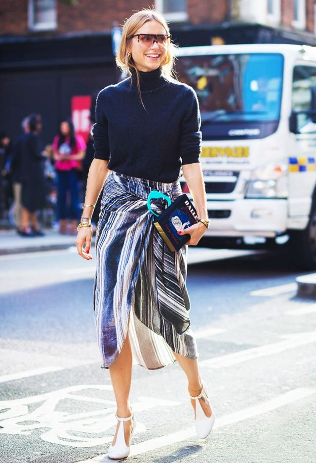 Shop the key piece:J.W.Anderson Striped Devore-Velvet Midi Skirt(£720)