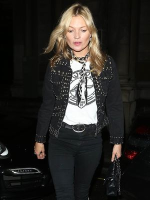 Kate Moss Only Needs This One Accessory to Look Cool