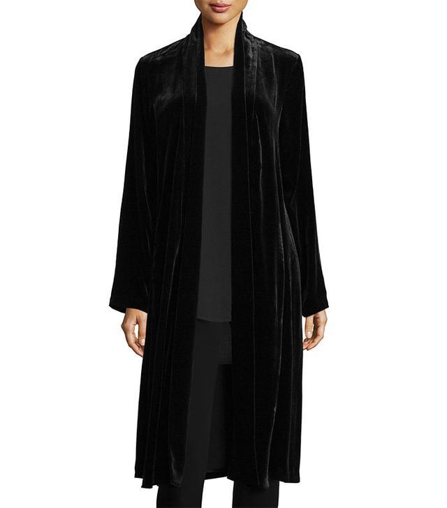 Eileen Fisher Washable Velvet Kimono Jacket