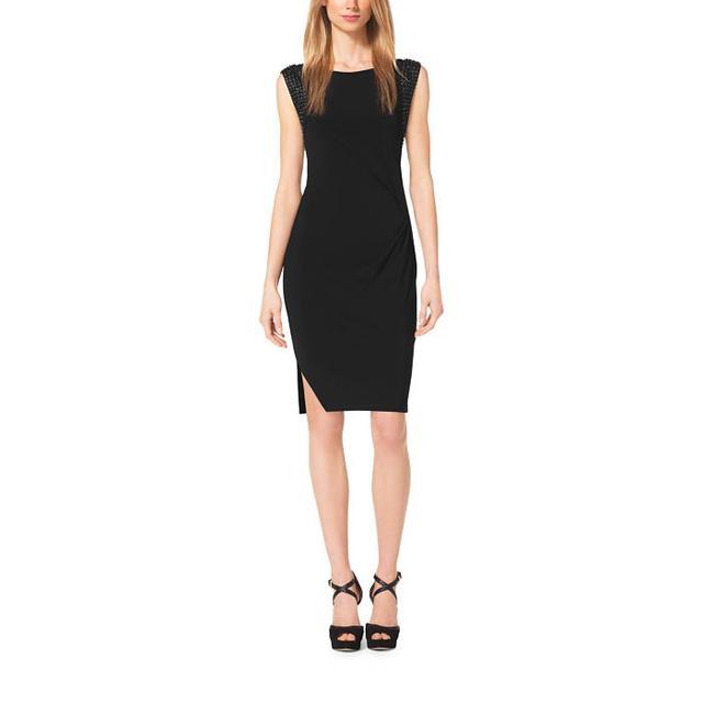 Michael Michael Kors Asymmetrical Matte-Jersey Dress