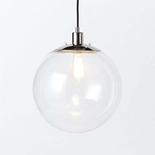 West Elm Globe Pendant - Clear