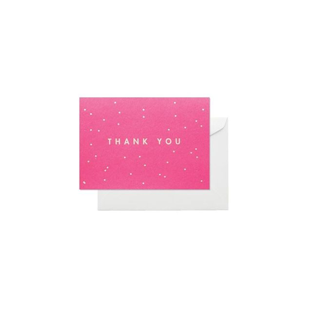 Elm Paper Box of 8 Folded Thank You Cards