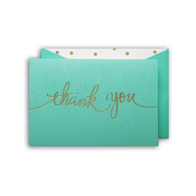 Papier D'amour Thank You Cards With Envelopes 10 Pack
