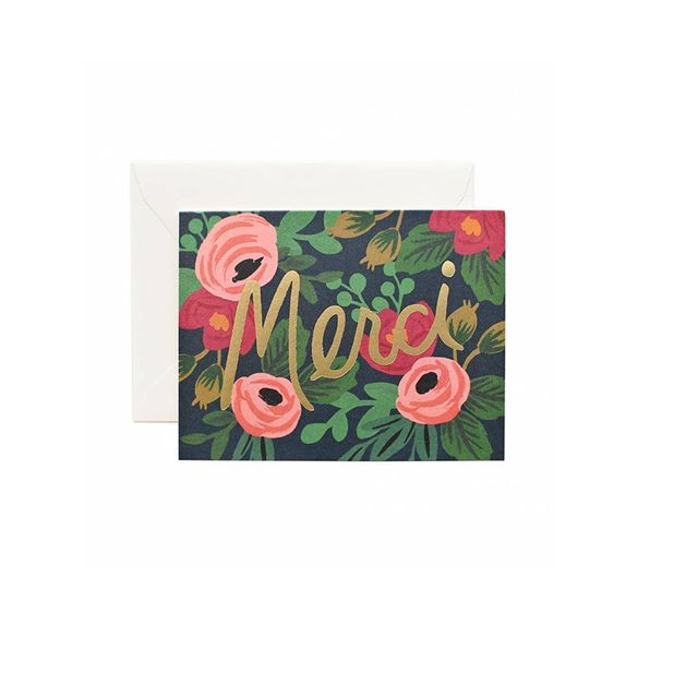 NoteMaker Rifle Paper Co - Card Set of 8 - Rosa Merci