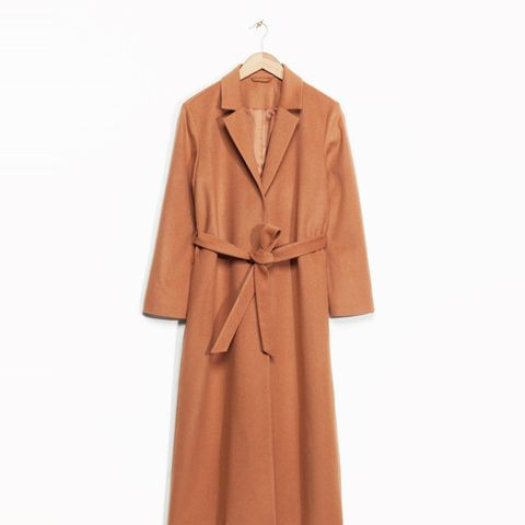Long Waisted Wool Coat