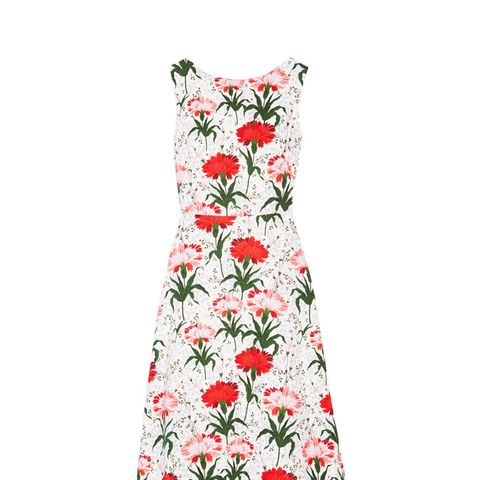 Maia Floral-Print Cotton-Blend Piqué Dress
